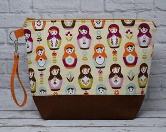 Nesting Dolls Project Bag - Medium Bag for Knitting or Crochet
