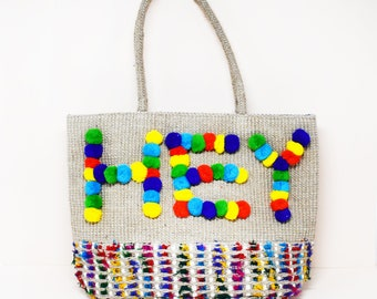 Hey Hey Beach Tote Bag