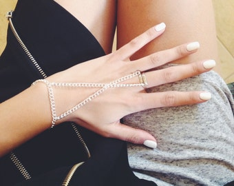 Silver Hand Chain - Stocking Stuffers for Women