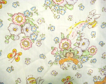 Vintage Cabbage Patch Kids Bed Sheet Single Size Bottom Sheet