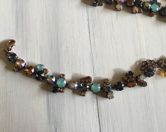 Bracelet. Shades of Denim & Topaz