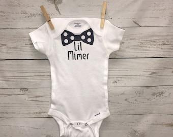 Last name onesie, bow tie onesie, personalized baby boy, baby boy onesie, custom onesie, baby boy clothing, bodysuit, baby shower gift, gift