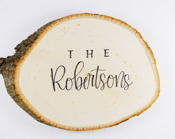 Custom Calligraphy Wood Round