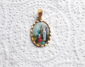 LOURDES - Religious Medal Pendant