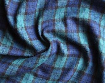 Cotton, Plaid, tartan plaid, blue and green, soft