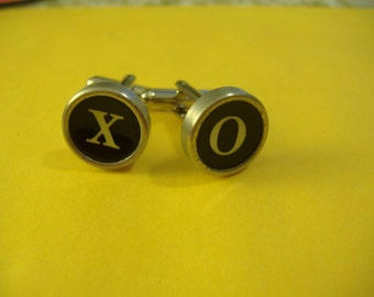 Cufflinks Typewriter Key  Hugs AND Kisses XO X O Vintage Unique Gift