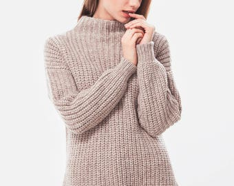 Alpaca sweater / Alpaca pullover / Alpaca turtleneck / Wool sweater / Chunky knit / Wool pullover / Oversized sweater / Corpo Sweater