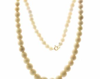 "20"" Vintage Czech necklace 62 gradual hand molded Uranium art glass beads"