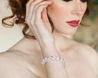 Wedding Bracelet, Rhinestone Cuff, Bridal Cuff, Bridal Jewelry, Cuff Bracelet, Wedding Accessories