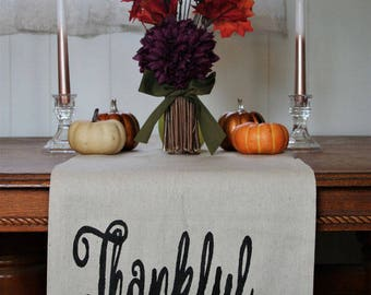 Thanksgiving Table Runner, Fall Table Runner, Thankful Home Decor, Thankful Table Decor, Fall Home Decor, Rustic Home Decor, Fall Decor