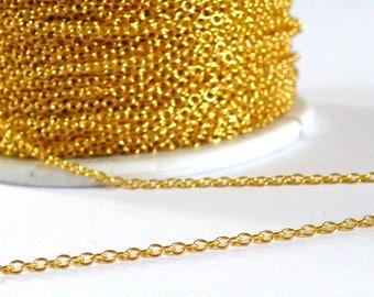 Chain fine mesh gold chain 1 meter