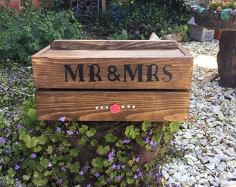 wooden personalised crate- box a perfect gift for weddings- bridesmaids- maid of honour- storage crate- rustic- home decor-