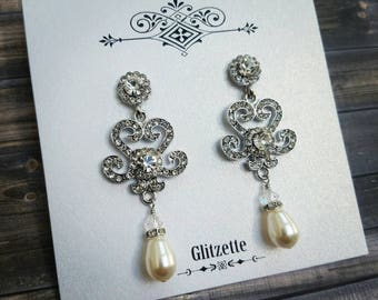 Bridal Earrings Wedding Earrings Wedding Jewelry Bridal Jewelry Vintage Inspired Mother of the Bride Mother of the Groom