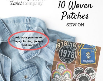 Custom Patches - 10 - SEW ON - Your own artwork - Up to 10 Colors - A USA Company
