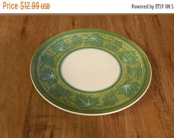 On Sale Avocado Green and Green Leaf with Turquoise Blue  Royal China  Cavalier Ironstone 11.40 inch Large Serving Platter Vintage Kitchen