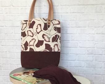 handbag, shoulder bag, waxed canvas bag