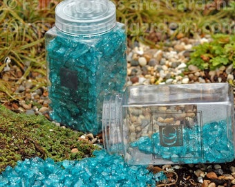 Blue Fairy Glass with Glitter