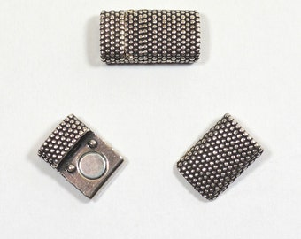 8mm Small Dots Clasps - Antique Silver - CL85