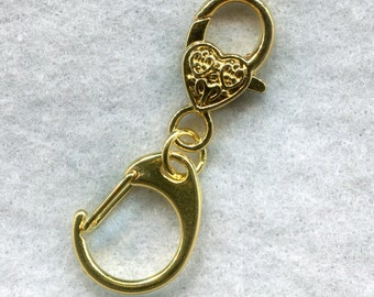 Stitch Marker Holder Keeper With Claw Clasp SMALL Gold Clip On  Handy