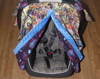 Doctor Who Carseat Canopy Cover