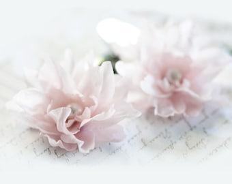 Pink hair flower Hair pins flowers Floral hair pins Hair accessories flowers Hair clips wedding Bridal hair accessories Wedding pin 713
