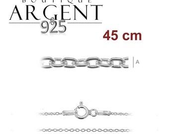 Woman size 45 cm 925 Silver chain