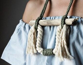 Natural rope necklace Ranran Design