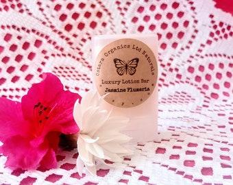 Jasmine Lotion Bar, Plumeria Lotion Bar, Jasmine Plumeria, floral lotion bar, natural lotion bar, solid lotion, hand lotion, shower favor