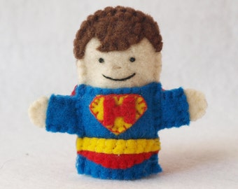 Caped Superhero Finger Puppet, Felt Finger Puppet, Custom Finger Puppet, Caped Superhero, Finger Puppet, Superhero Puppet