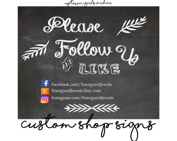 printable business signs please follow us sign craft show