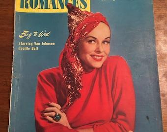 Screen Romances-March 1946- Paulette Goddard cover