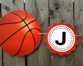 Basketball Banner - Basketball Baby Shower Banner - Basketball Birthday Banner