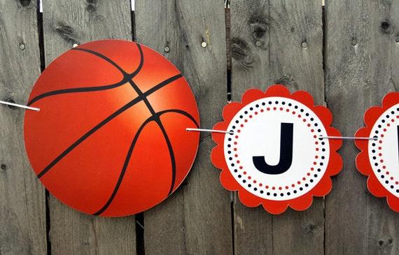Basketball Banner Basketball Baby Shower Banner Basketball