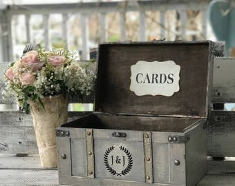 Personalized Wedding Card Box,Rustic Card Box, Wedding Card Box with Lid, Wedding Money Box,Wedding Card Holder,Large Cards Box for weddings