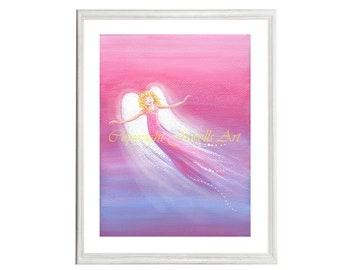 Joy Art Print, Part of the Angels Rising Series, Spiritual Art, Feng Shui Art, Healing Art, Art & Collectibles