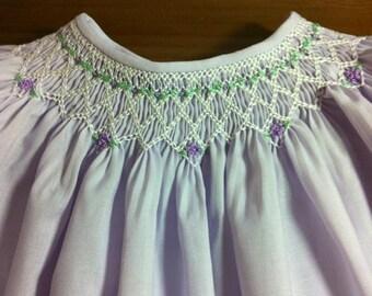 Toddler Girl Smocked Bishop Dress Size 3