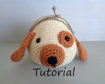 Crochet dog coin purse tutorial | Animal purse | Crochet tutorial | Crochet purse | Pattern