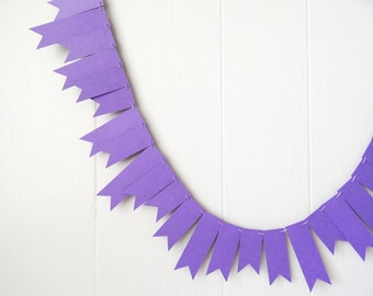 Grape Purple Garland / Purple Bunting / Purple Wedding Decor / Purple Fringe Garland / Purple Decor / Purple Photo Prop / Halloween
