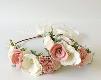 Mommy & Me Felt Flower Crowns || Flower Crown || Felt Flowers || Floral Crown ||   Photo Prop