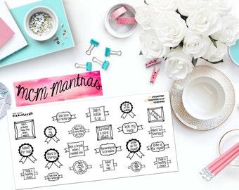 MENTAL HEALTH BADGES Paper Planner Stickers!