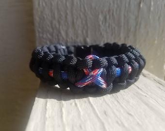9/11 remembrance paracord bracelet