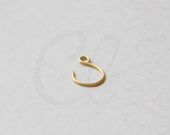 4pcs (2 Pairs) Premium Matte Gold Plated Brass Base Earring Hooks - 15x11.5mm (1967C-N-272)