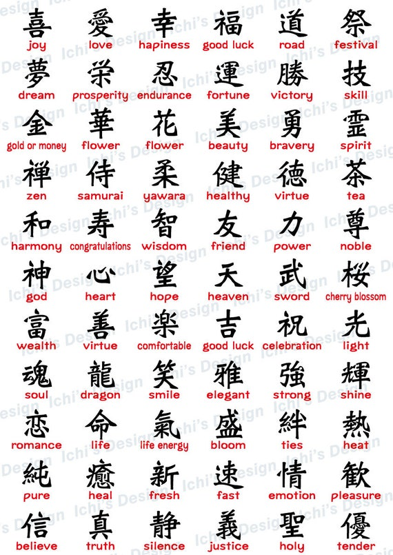 Kanji Chinese Character Set Instant Download Eps Png