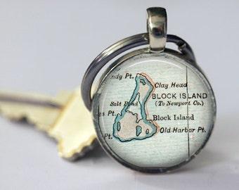 Block Island Rhode Island Gift, Best Friend, Friend Keychains for her, Friend Gift for Women, Custom Keychains, gift best friends