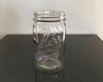 Vintage Kerr Wide Mouth Mason Quart Jar