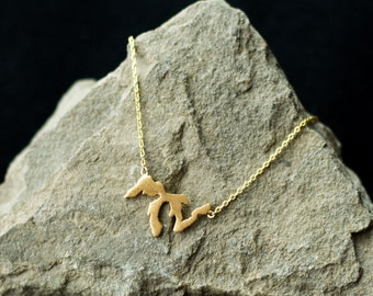 Gold Great Lakes necklace