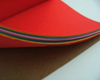 "Rainbow Bright A5 (8""x6"") Journal Notebook Moleskine style"