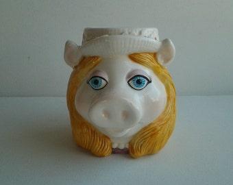 Vintage Miss Piggy Mug / '80's Miss Piggy Muppets Mug