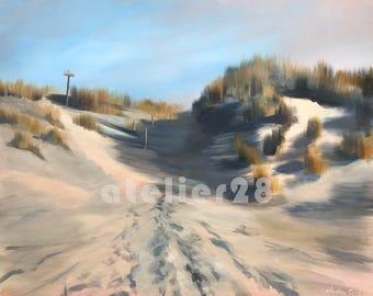 sand dunes at the beach giclee art print