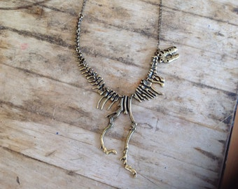 T-Rex Skeleton Necklace